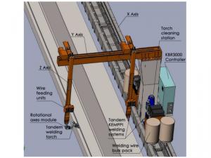 Dual head robotic welding system