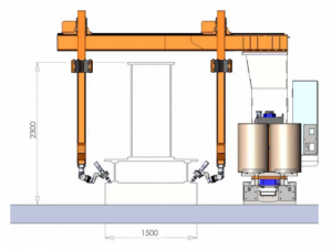 Robotic system for welding of crane beams