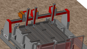 Gantry robotic system for welding of wagon sites