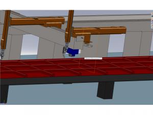 Robotic system for welding of large frames