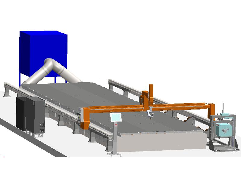 KBCUT HD5 - 5 Axis gantry system for plasma cutting - Kiberys