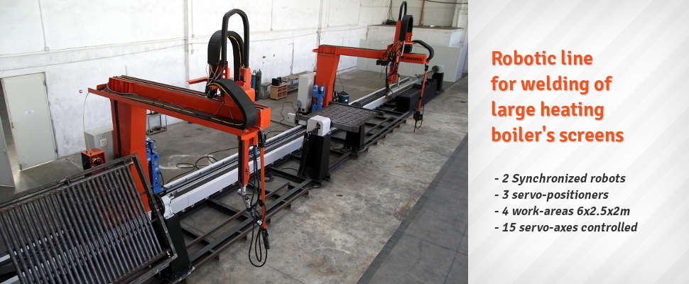 Welding line of heating screens